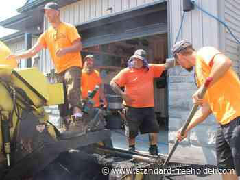 As hot jobs go, it's tough to beat laying asphalt in Cornwall