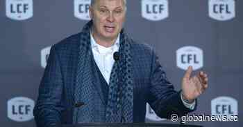 Canadian Football League submits revised financial request to federal government
