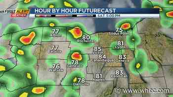 First Alert Weather: A break from the heat, rain on the way