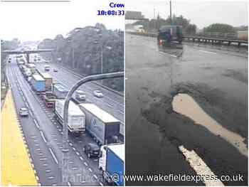 Long queues as emergency repairs carried out on M62 at Wakefield - Wakefield Express