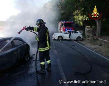 Auto in fiamme dopo un incidente a San Gimignano - Il Cittadino on line