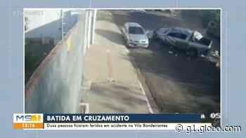 Vídeo mostra caminhonete capotando três vezes após batida em Campo Grande - G1