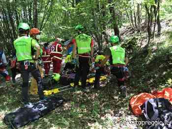 Lago del Tasso (Casina), cade con la moto: 40enne di Vezzano trasportato all'ospedale in elicottero - Next Stop Reggio
