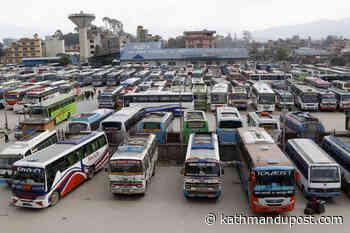 Public transport operators decide not to resume services despite lifting of ban - The Kathmandu Post