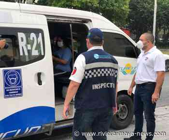 Public transport vehicles in Cancun fined for not adhering to health protocols - Riviera Maya News