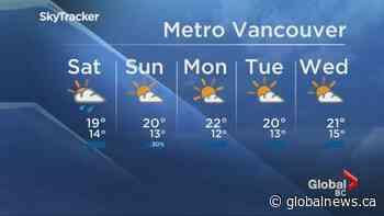 B.C. evening weather forecast: July 10
