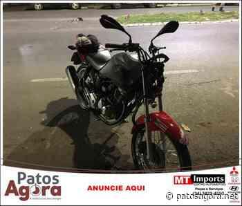 Motociclista fica ferido ao colidir em carro na Avenida Paranaíba - Patos Agora