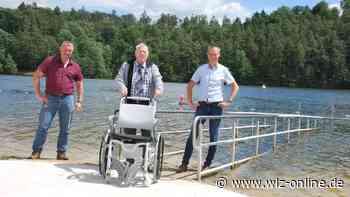 Barrierefrei mit dem Rollstuhl bis in den Twistesee - wlz-online.de