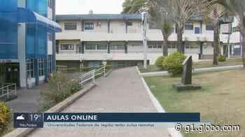 Universidade Federal de Alfenas anuncia retomada de aulas remotas a partir do dia 3 de agosto - G1