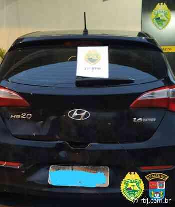 Após perseguição policial homem é preso com carro roubado em Realeza - RBJ
