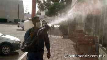 #Delicias   Continúa Municipio desinfectando las calles de la ciudad - Adriana Ruiz