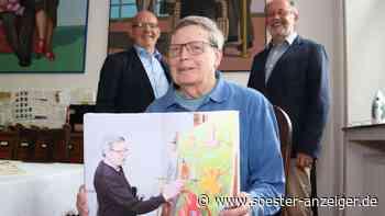 Geschenk für Enser Künstler: Heimatverein überrascht Harald Becker zum 80. Geburtstag - soester-anzeiger.de