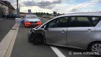 Collision entre deux voitures à la rue Cahos à Templeuve - Notélé