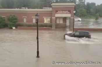 Cars in Thornbury caught in flash flood (VIDEO) - CollingwoodToday