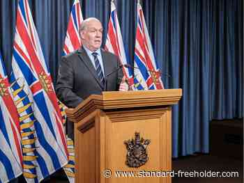 COVID-19: As cases tick up, B.C. premier remains optimistic about reopening - Standard Freeholder