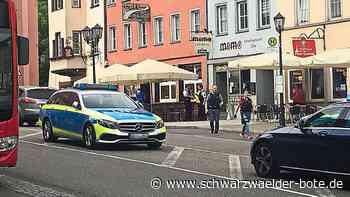 Rottweil: Hintergrund von Schlägerei an Friedrichsplatz noch unklar - Schwarzwälder Bote