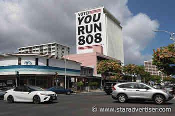 Huge 'You Run 808' mural encourages Hawaii voter registration