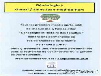 Généalogie à St Jean Pied de Port mardi 4 août 2020 - Unidivers