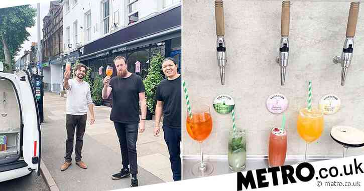 There's a cocktail van delivering aperol spritzes and espresso martinis around London for doorstep drinking
