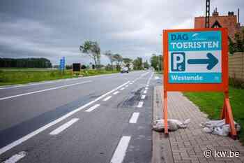 Dagtoeristen worden via borden naar randparkings geleid in Middelkerke