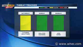 First Alert Weather: Rain, storms are on the way