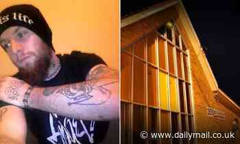 Heavily tattooed white supremacist who set fire to a church is in trouble with police