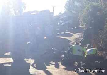 Motociclista sofre traumatismo cranioencefálico após acidente em Orleans - Notisul