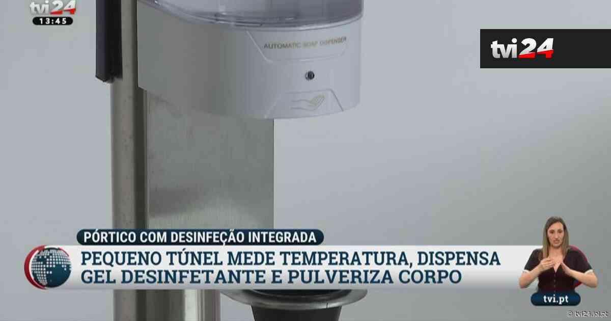 Túneis protegem funcionários da Covid-19 em empresa de Matosinhos - TVI24