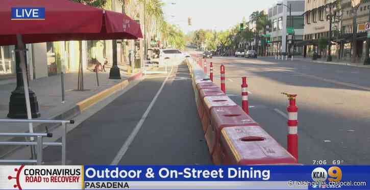 Colorado Boulevard Becomes 1st Location In Pasadena To Offer Outdoor Dining In City Streets