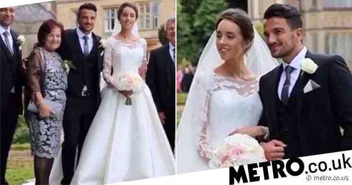 Peter Andre marks fifth anniversary to Emily MacDonagh with clips of intimate wedding