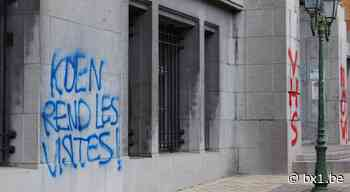 Des tags au SPF Justice et à la prison de Saint-Gilles réclament un retour à la normale des visites en prison - BX1