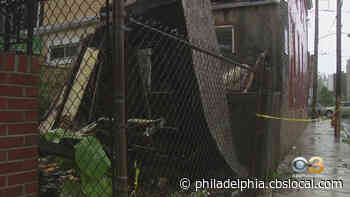 Officials: Two-Story Home In West Philadelphia Partially Collapses - CBS Philly