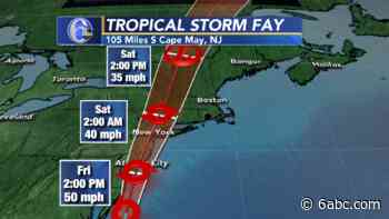 AccuWeather Alert: Tropical Storm Fay bringing heavy rain, flooding - WPVI-TV