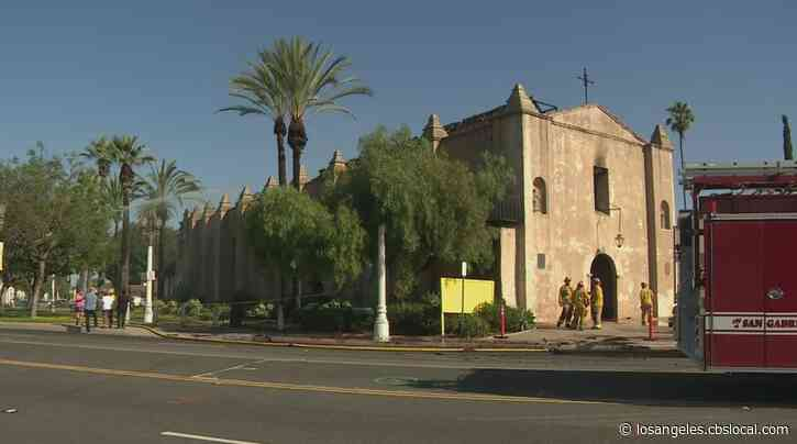 Building That Houses 250-Year-Old San Gabriel Mission Sustains Extensive Damage In Fire