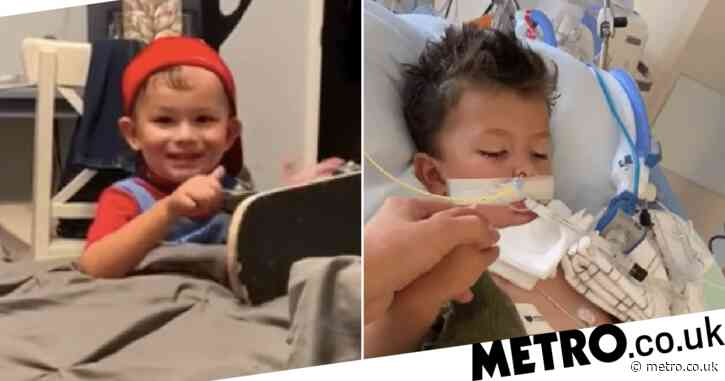 Toddler suffers terrible brain damage after crawling into swimming pool to get his favorite truck