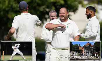 The sound of summer returns! Village cricket resumes for the first time since lockdown