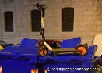 Bari, sul bidone o davanti alla rampa: inaugurato il minchia parking del monopattino - Il Quotidiano Italiano - Bari