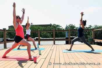 Yoga studios take to the outdoors