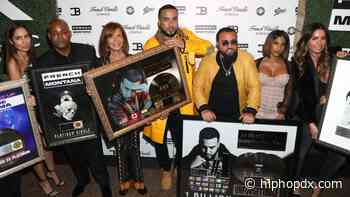 French Montana Flexes With 41X Platinum Plaque For Akademiks
