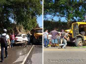 Dois morrem em acidente entre carro e caminhão, em Itapemirim - Jornal FATO