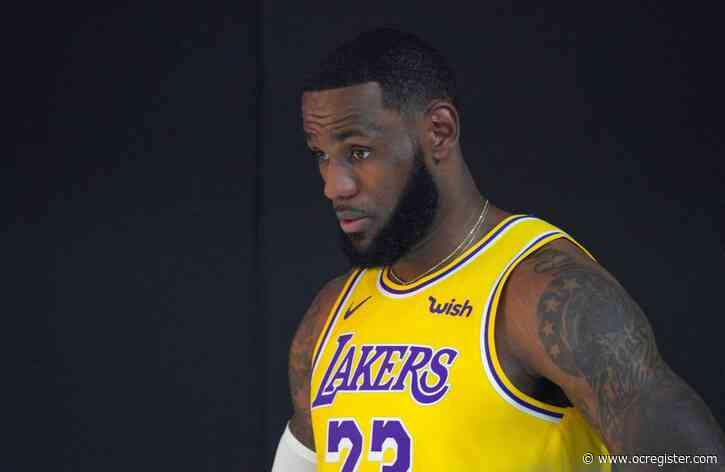 LeBron talks more than basketball as Lakers return to practice court