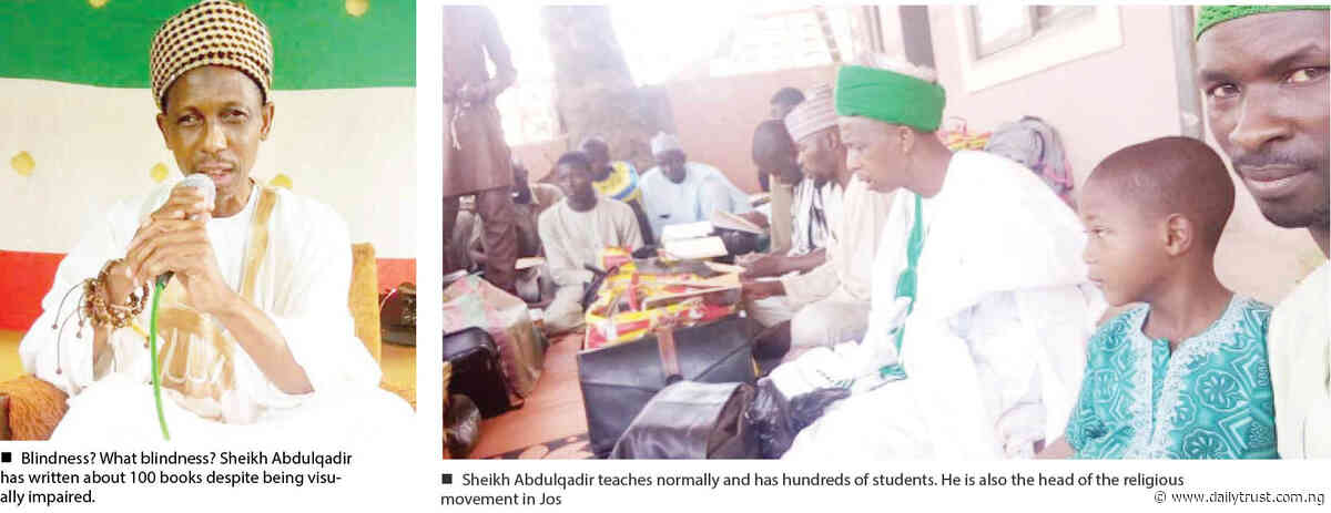 The blind teacher of Jos who has written a hundred books - Daily Trust