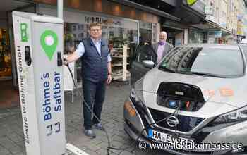 """Ausbau der Elektromobilität in Hagen:: Mark-E nimmt weitere E-Tankstelle für """"Elektro Böhme"""" am Märkischen Ring in Betrieb - Hagen - Lokalkompass.de"""