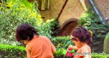 Taimur Ali Khan turns into the cutest little gardener as he waters plants in THIS throwback photo - PINKVILLA