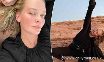 Makeup-free Lara Bingle shows off incredible post-baby body in stunning self-portraits