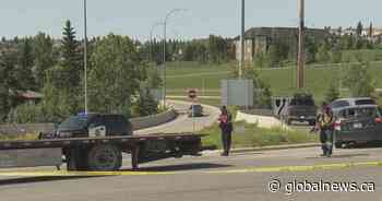 Man with life-threatening injuries after motorcycle-vehicle crash in southwest Calgary
