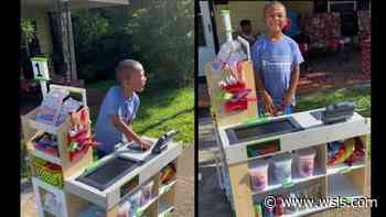 Danville five-year-old opens up market in front yard - WSLS 10