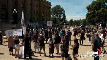 Albertans protest Bill 1 in Edmonton, Calgary