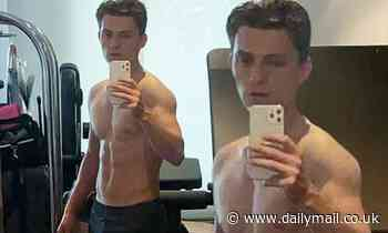 Tom Holland posts mirror selfie flaunting his RIPPED bod ahead of Uncharted shoot