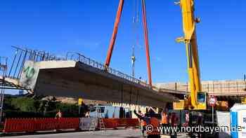 Bau der A73-Brücke: Autokran leistet Schwerstarbeit - Nordbayern.de